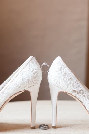 aliança casamento sapato