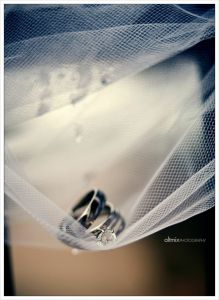 aliança casamento véu