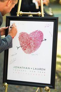 coração com fingerprints