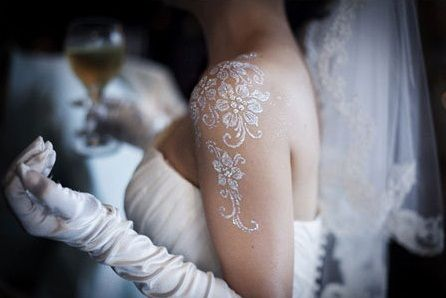 noiva tatoo hena branca