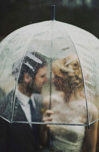 guarda-chuva transparente casamento 1