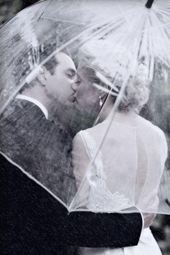 guarda-chuva transparente casamento 2