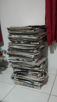 DIY: Sousplat de jornal . (3/6)