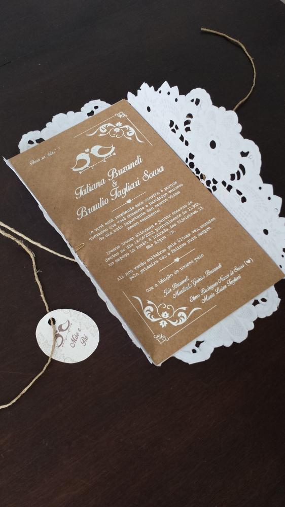 DIY: Convite de casamento rústico . (3/6)
