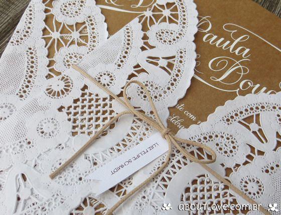 DIY: Convite de casamento rústico . (2/6)