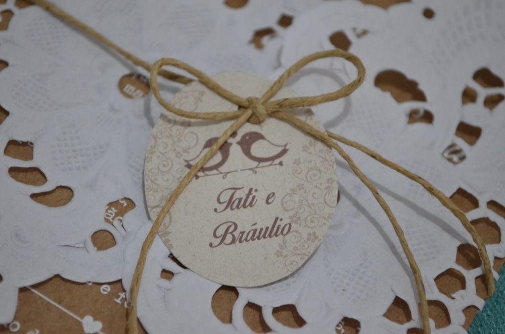 DIY: Convite de casamento rústico . (6/6)
