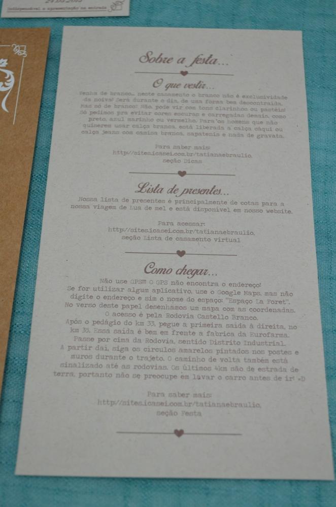 DIY: Convite de casamento rústico . (4/6)