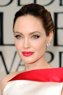 BEVERLY HILLS, CA - JANUARY 15: Actress Angelina Jolie arrives at the 69th Annual Golden Globe Awards held at the Beverly Hilton Hotel on January 15, 2012 in Beverly Hills, California. (Photo by Jason Merritt/Getty Images)