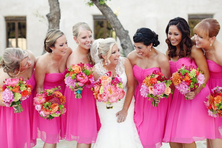 Bright Coloured Bridesmaid Dresses: Casamento_paleta-de-cores_rosa_laranja_madrinha_04